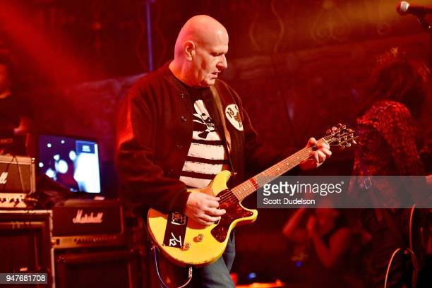 Musician/producer Marco Pirroni original guitarist of Adam and the Ants performs onstage during the Above Ground concert benefiting MusiCares at...
