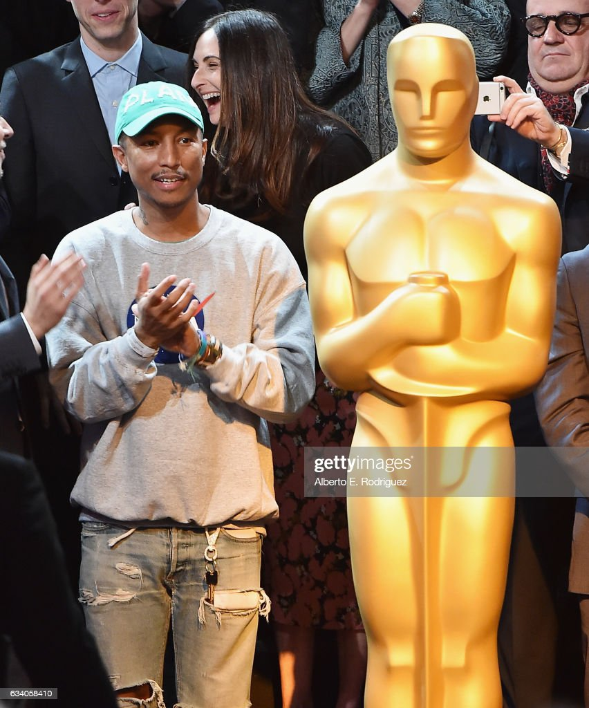Musician/producer Pharrell Williams attends the 89th Annual Academy Awards Nominee Luncheon at The Beverly Hilton Hotel on February 6, 2017 in Beverly Hills, California.