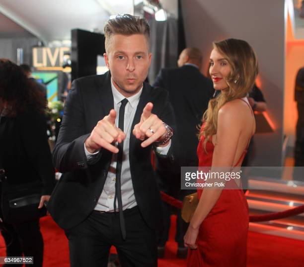 Musician/Producer Ryan Tedder of OneRepublic and wife Genevieve Tedder attend The 59th GRAMMY Awards at STAPLES Center on February 12 2017 in Los...
