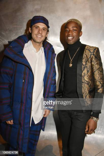 Musician/rap artists Orelsan GQ's 2018 Musician of The Decade and MHD GQ's 2018 Musician of The Year attend GQ Men Of The Year Awards 2018 at Centre...