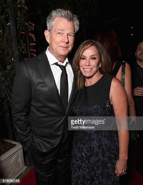 Musician/record producer David Foster and actress Melissa Rivers attend the Hollywood Walk of Fame Honors at Taglyan Complex on October 25 2016 in...