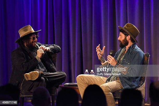 Musician/Record Producer Don Was and Musician Ray LaMontagne speak at A Conversation with Ray LaMontagne at The GRAMMY Museum on October 9 2014 in...