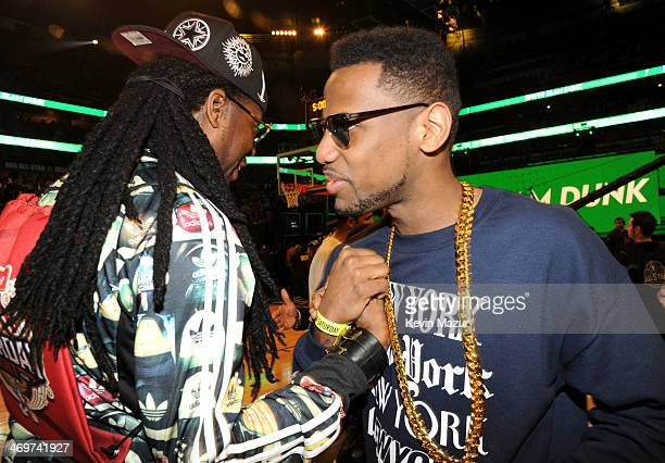Musicians 2 Chainz and Fabolous attend the State Farm All-Star Saturday Night during the NBA All-Star Weekend 2014 at The Smoothie King Center on...