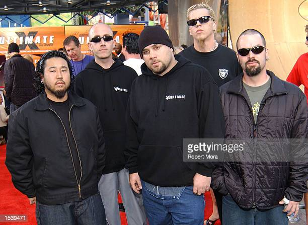 Musicians 3rd Strike attend ESPN's Ultimate X movie premiere May 6, 2002 in Universal City, CA.