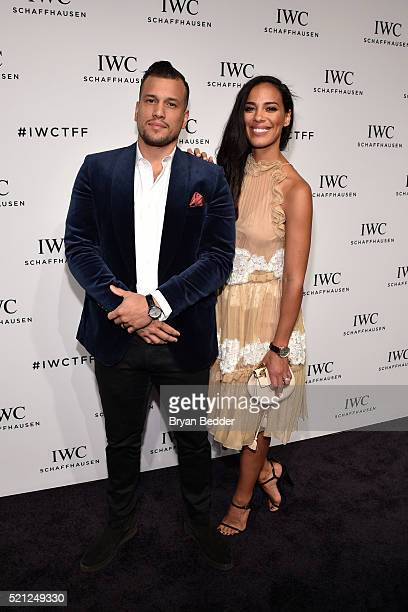 Musicians Abner Ramirez and Amanda Sudano of JohnnySwim attend the 4th Annual IWC Schaffhausen 'For The Love Of Cinema' dinner at Spring Studios on...