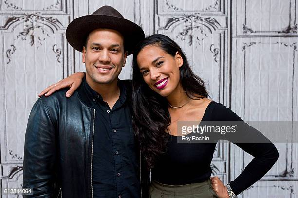 Musicians Abner Ramirez and Amanda Sudano of Johnnyswim perform during AOL Build at AOL HQ on October 10 2016 in New York City