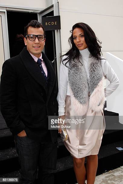 Musicians Abner Ramirez and Amanda Sudano of Johnnyswim the Louis Vuitton during Paris Fashion Week on October 5 2008 in Paris France