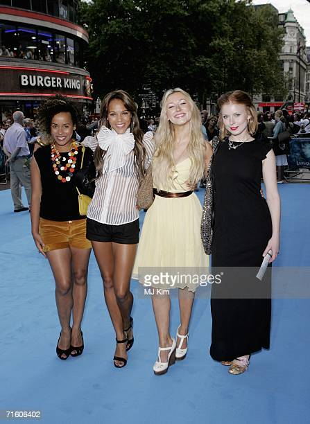 Musicians / actresses Helena Dowling Lauren Blake Hayley Wardle and Bryony Afferson of Frank arrive at the UK premiere of Lady In the Water held at...