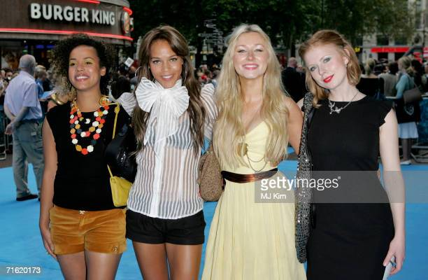 Musicians / actresses Helena Dowling Lauren Blake Hayley Wardle and Bryony Afferson arrive at the UK premiere of Lady In the Water held at the Vue...