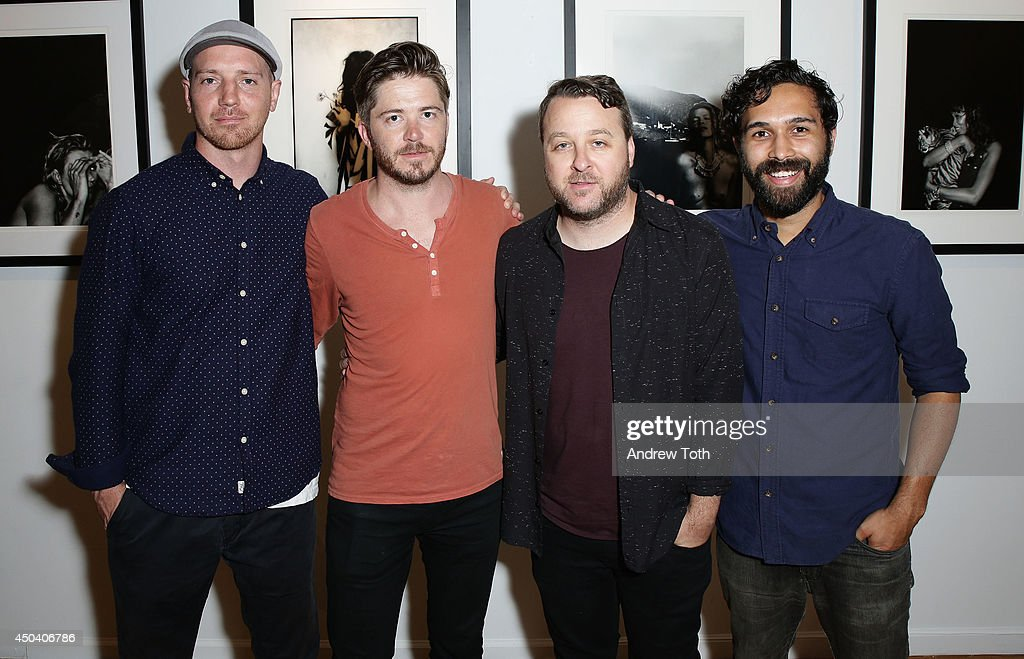 Musicians Adam Arkapaw, Dave Schmidt, Scott Pioro and Ben Abraham attend Jamie Hince's 'Echo Home' Exhibition Opening at Morrison Hotel Gallery on June 10, 2014 in New York City.