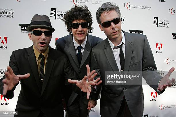 Musicians Adam Horovitz Mike Diamond and Adam Yauch of the Beastie Boys arrive at the 11th Annual Webby Awards at Chipriani Wall Street June 5 2007...