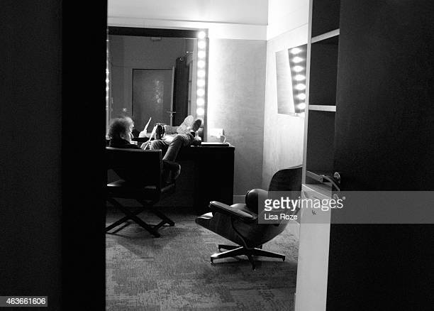 Musicians Alain Souchon and Laurent Voulzy are photographed for Self Assignment on January 18 2015 in Paris France
