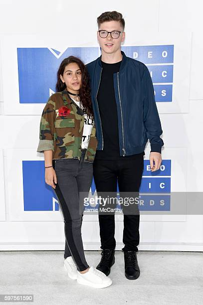 Musicians Alessia Cara and Kevin Garrett attend the 2016 MTV Video Music Awards at Madison Square Garden on August 28 2016 in New York City