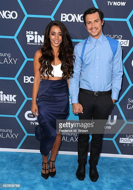 Musicians Alex and Sierra attends the 2014 Young Hollywood Awards brought to you by Samsung Galaxy at The Wiltern on July 27 2014 in Los Angeles...