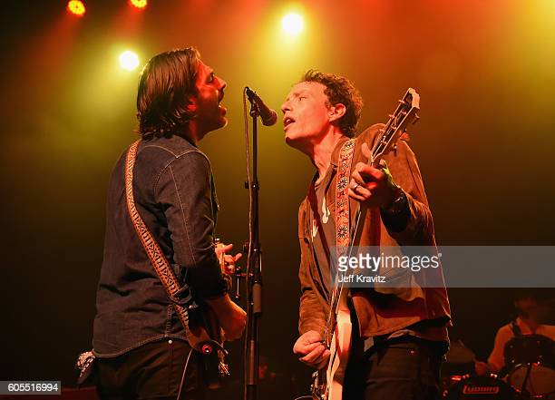 Musicians Alex Levy and Jakob Dylan perform onstage during Petty Fest 2016 at The Fonda Theatre on September 13 2016 in Los Angeles California