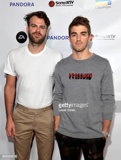 Musicians Alex Pall and Andrew Taggart of The Chainsmokers at City of Hope's Music Film and Entertainment Industry's Songs of Hope Event on September...