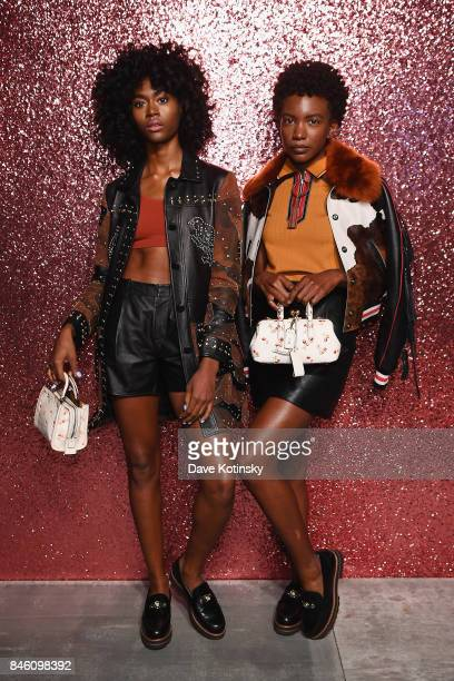 Musicians Alexe Belle and Isis Valentino of St. Beauty pose for a portrait during Coach Spring 2018 Fashion Show during New York Fashion Week at...