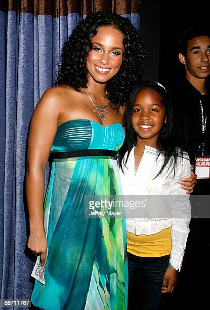 Musicians Alicia Keys and Gabby Wilson onstage during the 22nd annual ASCAP Rhythm and Soul Awards held at The Beverly Hilton Hotel on June 26 2009...