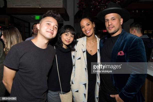 Musicians Amanda Sudano and Abner Ramirez of 'Johnny Swim' attend 'Cal Mare by chef Adam Sobel grand opening party' on November 30 2017 in Los...