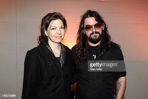 Musicians Amy Nelson and Shooter Jennings walk the red carpet before the We Walk The Line A Celebration Of The Music Of Johnny Cash show at ACL Live...