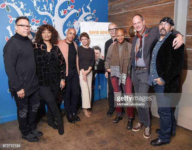 Musicians and bandmates of David Bowie's Carlos Alomar, Robin Clark, Sterling Campbell, SVP of HBO Documentary Films Sara Bernstein, music producer...