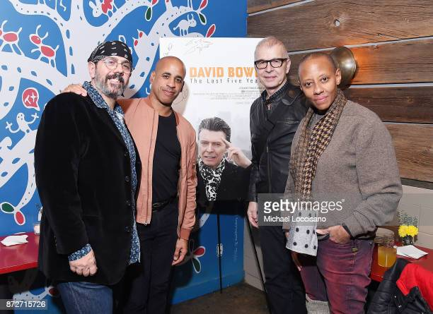 Musicians and bandmates of David Bowie's Mark Plati and Sterling Campbell, music producer Tony Visconti, and musician and Bowie bandmate Gail Ann...