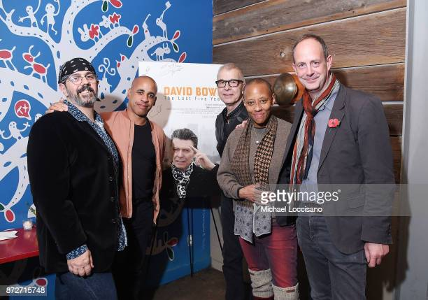 Musicians and bandmates of David Bowie's Mark Plati and Sterling Campbell, music producer Tony Visconti, musician and Bowie bandmate Gail Ann Dorsey,...