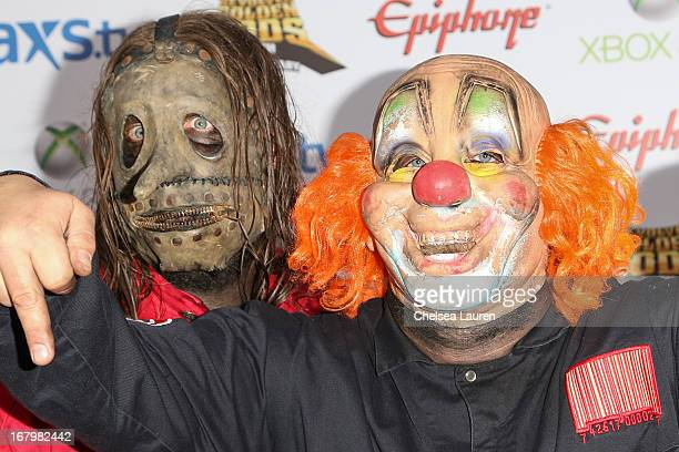 Musicians and Clown of Slipknot arrive at the 5th Annual Revolver Golden Gods awards show at Club Nokia on May 2 2013 in Los Angeles California