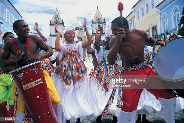 Musicians and dancers, Salvador, Brazil