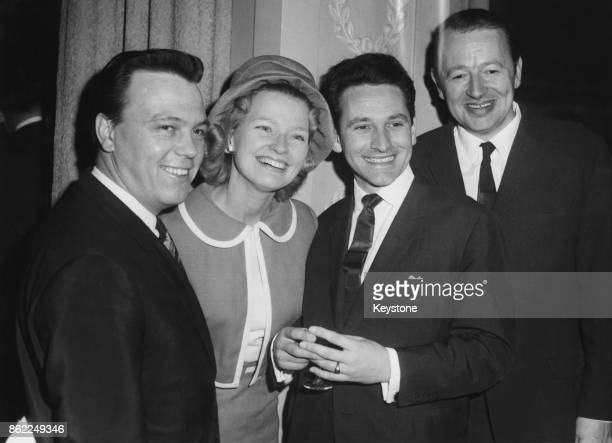 Musicians and music executives at the fifth annual Golden Disc Luncheon held by the Variety Club of Great Britain at the Dorchester Hotel London 11th...