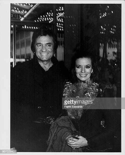 Musicians and spouses Johnny Cash and June Carter attending the CBS Television party at Century Plaza Hotel Los Angeles CA May 1980