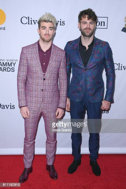 Musicians Andrew Taggart and Alex Pall of the Chainsmokers attend the Clive Davis and Recording Academy PreGRAMMY Gala and GRAMMY Salute to Industry...