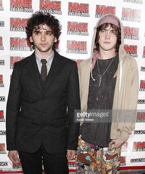 Musicians Andrew Vanwyngarden and Ben Goldwasser MGMT arrive at the 1st Annual US NME Awards at the El Rey Theater on April 23 2008 in Los Angeles...