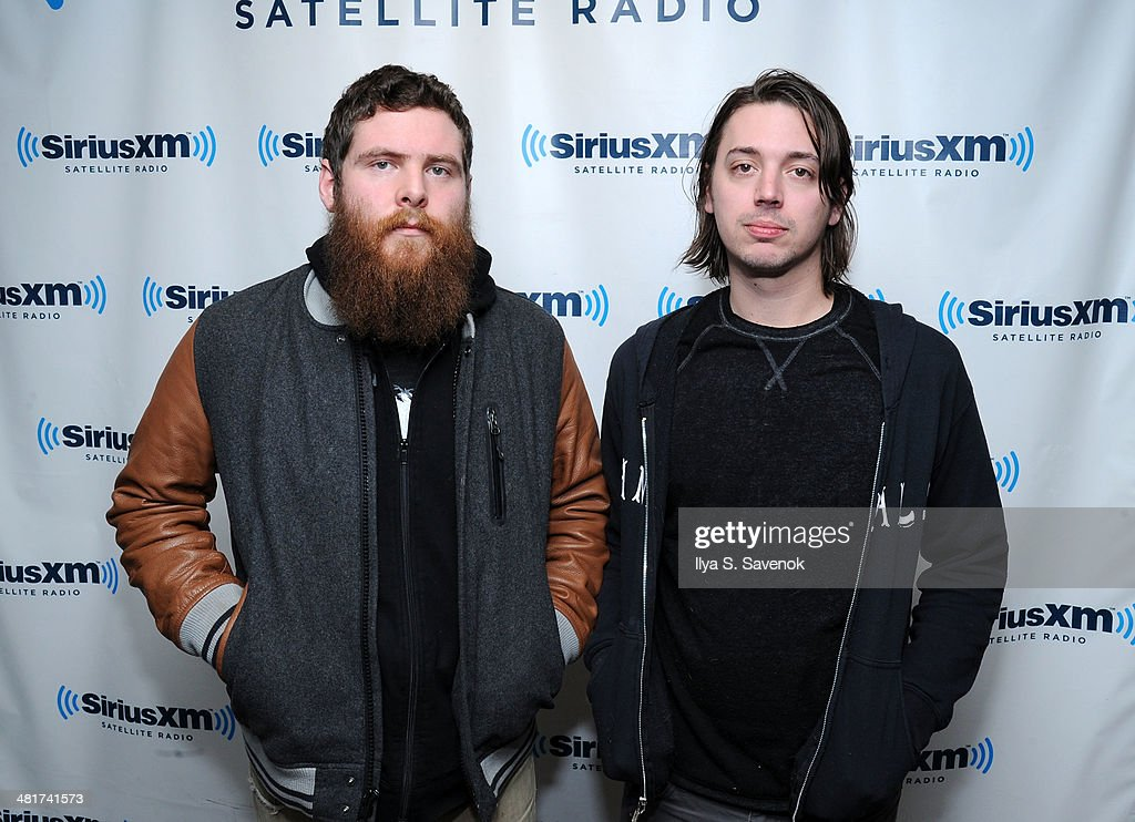 Musicians Andy Hull and Robert McDowell of the band Manchester Orchestra visit the SiriusXM Studios on March 31, 2014 in New York City.