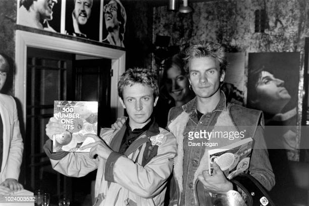 Musicians Andy Summers and Sting of 'The Police' pose for a portrait circa 198285