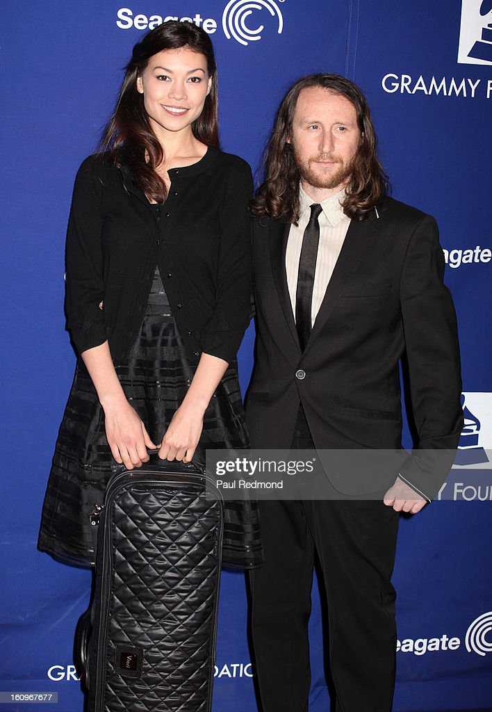 Musicians Ann Marie Simpson and Mike Einziger arrive at the Grammy Foundation's 15th Annual Music Preservation Project at Saban Theatre on February 7, 2013 in Beverly Hills, California.