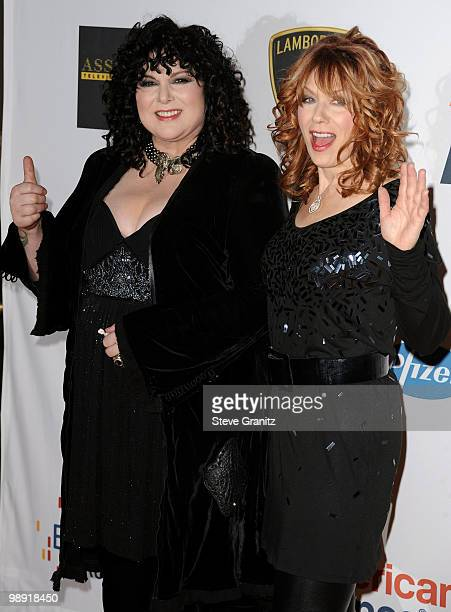 Musicians Ann Wilson and Nancy Wilson of Heart arrive at the 17th Annual Race to Erase MS event co-chaired by Nancy Davis and Tommy Hilfiger at the...