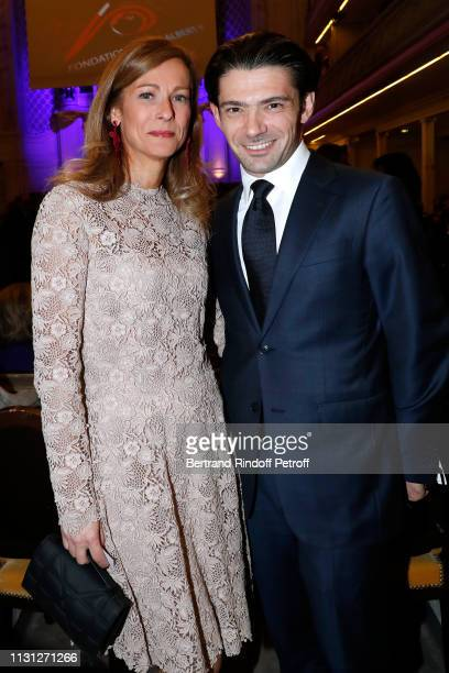 Musicians Anne Gravoin and Gautier Capucon attend the Fondation Prince Albert II De Monaco Evening at Salle Gaveau on February 21 2019 in Paris France