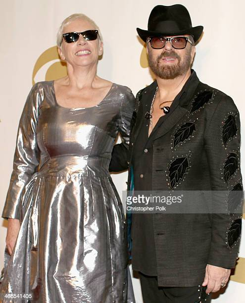 Musicians Annie Lennox and Dave Stewart of Eurythmics attend The Night That Changed America A GRAMMY Salute To The Beatles at the Los Angeles...