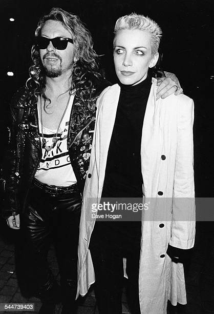 Musicians Annie Lennox and Dave Stewart the band 'Eurythmics' at the Montreux Jazz Festival May 1988