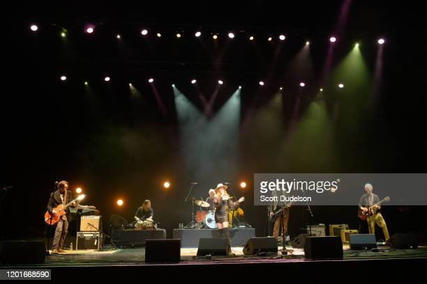 Musicians Arjun Bruggeman Micah Nelson John Densmore Haley Reinhart Krist Novoselic and Robby Krieger perform onstage during Homeward Bound A Benefit...