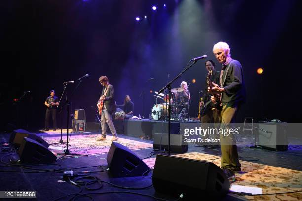 Musicians Arjun Bruggeman Micah Nelson John Densmore Krist Novoselic and Robby Krieger perform onstage during Homeward Bound A Benefit for the...