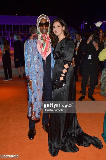 Musicians ASAP Rocky and Lana Del Rey wearing Gucci attend 2018 LACMA Art Film Gala honoring Catherine Opie and Guillermo del Toro presented by Gucci...