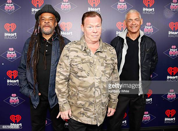 Musicians Astro Ali Campbell and Michael Virtue of UB40 arrive at the iHeart80s Party 2017 at SAP Center on January 28 2017 in San Jose California