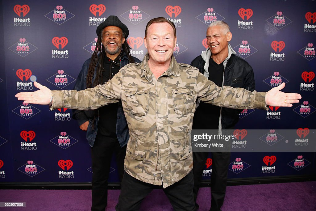 Musicians Astro, Ali Campbell and Mickey Virtue of UB40 arrive at the iHeart80s Party 2017 at SAP Center on January 28, 2017 in San Jose, California.
