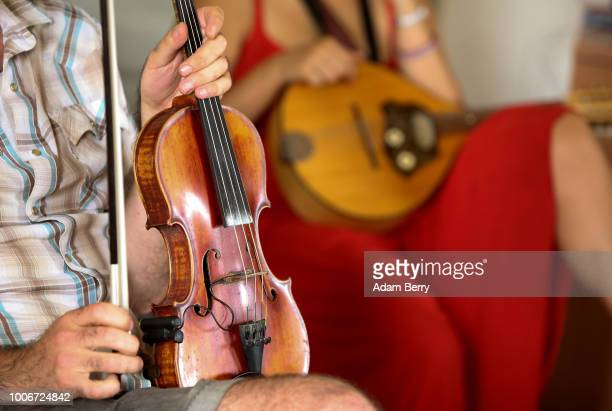 Musicians attend a violin workshop during Yiddish Summer Weimar on July 27, 2018 in Weimar, Germany. The annual five-week summer institute and...