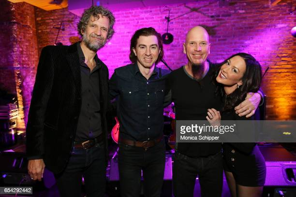 Musicians Audley Freed Julian Dorio Paul Slivka and Amanda Shires attend the Garden Gun 10th Anniversary Celebration in NYC at Beekman Hotel on March...