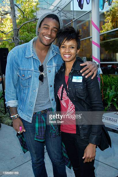 Musician's Austin Brown and Angie Swan attend Trueheart Events 1st annual All You Need Is Love Valentine's Day Party at Children's Hospital Los...