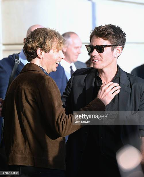 Musicians Beck and Nate Ruess attend the 30th Annual Rock And Roll Hall Of Fame Induction Ceremony at Public Hall on April 18, 2015 in Cleveland,...