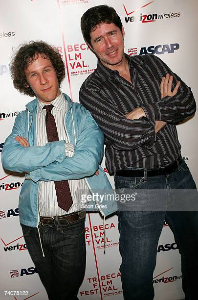 Musicians Ben Lee and John Alasia pose for a photo at the ASCAP / Tribeca Music Lounge at The 2007 Tribeca Film Festival on May 4 2007 in New York...
